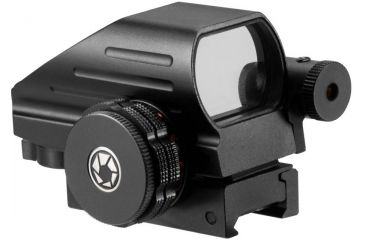 Barska Multi Reticle Electro Sight with Red Laser, Black AC12136