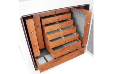 7-Barska White Keypad Jewelry Safe, Light Interior