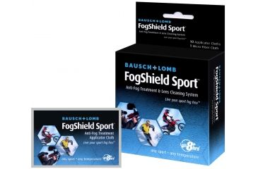 Bausch & Lomb Anti Fog Treatment and Lens Cleaning System, 10 applicator cloths and 1 micro fiber cloth