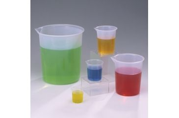 Bel-Art Beaker 600ML Pp Grad PK4 F262150000, Pack of 4