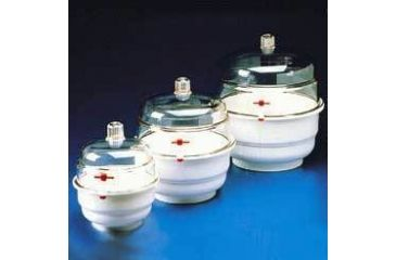 Bel-Art Space Saver Vacuum Desiccators, SCIENCEWARE 420120000 Clear Polycarbonate Bottom