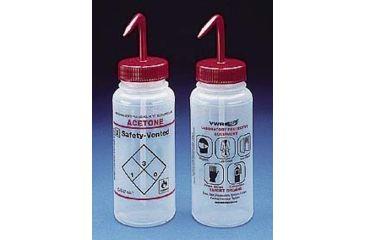 Bel-Art Safety-Vented Labeled Wash Bottles, Low-Density Polyethylene, Wide Mouth 116430224 250 Ml (8 oz.) Capacity