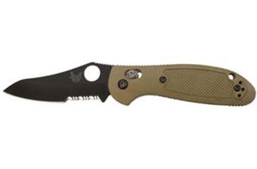 Benchmade 555HG Mini Griptilian Folding Knife, ComboEdge/ BK Coated Blade/ Black Handle, Clam 555SBKHGCP