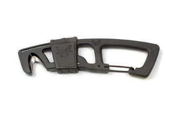 Benchmade 9CB Hook Safety Cutter w/ Carabineer Clip & Bottle Opener, Black 9 CB-BLK