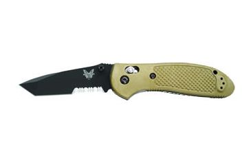 Benchmade 557 Tanto Mini-Griptilian Knife by Pardue Design w/ Combo Edge BK1 Blade & Sand Color Handle 557SBKSN