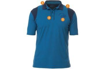 Beretta Cotton and Mesh Shooting Polo Shirt, Blue/Blue Xcel, Medium MT2472380540M