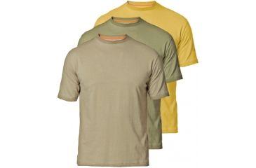 Beretta T-Shirts - Set of 3, Beige/ Yellow/ Green, Small TSC672370MXCS
