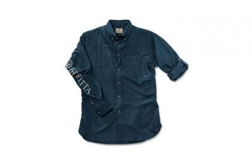 Beretta V-Tech Shooting Shirt, Long Sleeve, Navy, Med LT0975520504M