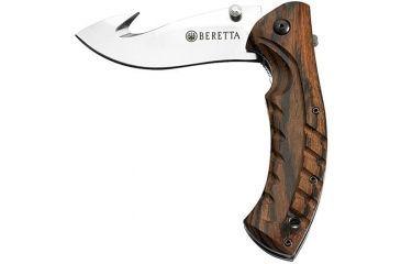 Beretta Xplor Light Folding Gut Hook, 3.26in Blade w/ Leather Sheath CO6204520900