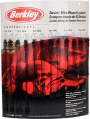 Berkley Wound Steelon Leader Bulk Display, Black 176033