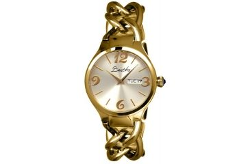 Bertha Darla Ladies Watch, Gold Metal Band, Gold Bezel, Silver Analog Dial, Gold Hand BTHBR1903