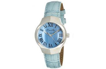 Bertha Pauline Ladies Watch, Powder Blue Leather Band, Silver Bezel, Powder Blue Analog Dial, Silver Hand BTHBR404