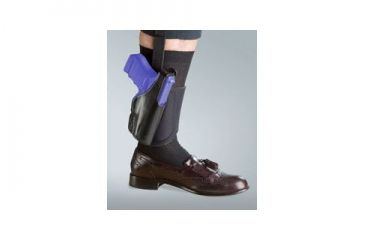 Bianchi 150 Negotiator Ankle Holster - Plain Black, Left Hand 24015