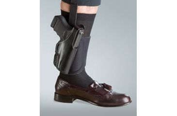 Bianchi 150 Negotiator Ankle Holster - Plain Black, Right Hand 24014