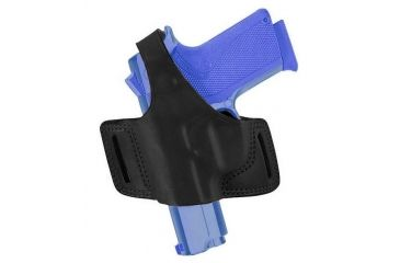 Bianchi 5 Black Widow Plain Black Left Hand Belt Slot Holster - Kahr K9, MK9, K40, and similar 19633