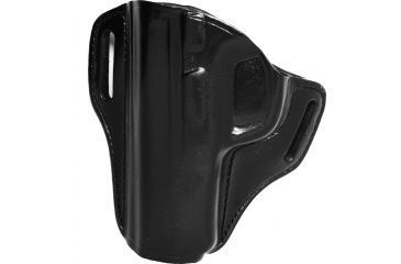 Bianchi 57 Remedy Leather Pancake Holster, S&W M&P 9mm/.40/.45 - Black, Left Hand