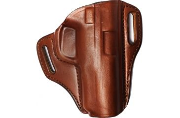 Bianchi 57 Remedy Leather Pancake Holster, S&W M&P 9mm/.40/.45 - Tan, Right Hand