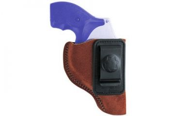 Bianchi 6 Waistband Holster - Rust Suede, Left Hand 19559