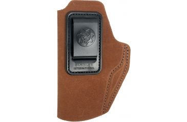 Bianchi 6 Waistband Holster Rust Suede, Left Hand