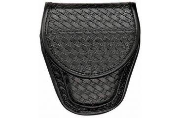 Bianchi 7900 Covered Cuff Case - Plain Black, Brass 23015