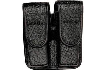 Bianchi 7902 Double Mag Pouch - Plain Black, Hidden 22082