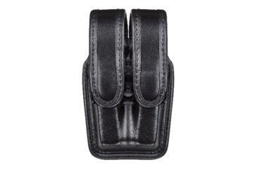 Bianchi 7944 Slimline Double Mag Pouch, Plain Black w/ Brass Snap, Glock 20/21 & Similar
