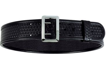 Bianchi 7960 AccuMold Elite Sam Browne Belt - Plain Black, Chrome 22224