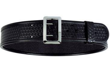 Bianchi 7960 AccuMold Elite Sam Browne Belt - Plain Black, Chrome 22226