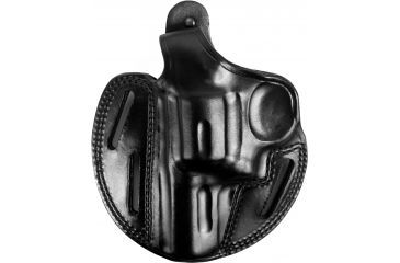 Bianchi 7 Shadow II Leather Hip Holster Plain Black, Left Hand