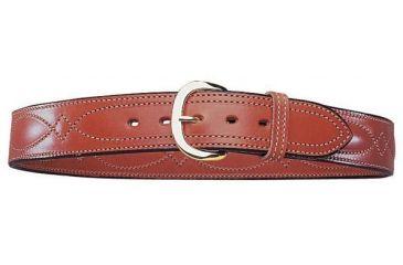 Bianchi B21 Contour Belt - Plain Tan, Brass Buckle, Waist 34in, 13723
