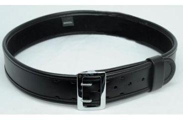 Bianchi 7960 AccuMold Elite Sam Browne Belt - Plain Black, Chrome, 28-30in, 22212