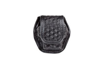 Bianchi 7935 EDW Basketweave Black Single Pouch w/ Hidden Snap for Taser X26 Cartridge