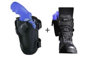 1-Bianchi 4750 Ranger Triad Ankle Holster - Black, Right Hand 19746
