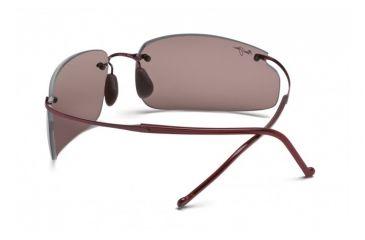 Maui Jim Big Beach Sunglasses w/ Burgundy Frame and Maui Rose Lenses - R518-07, Back View