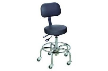 Bio Fit Cushioned Stools with Chrome-Plated Finish, BioFit 1L62C-EH-LSR Bench Height