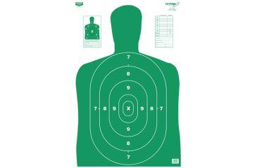 Birchwood Casey B-27 Eze-Scorer Green Silhouette Paper Target 23x35 Inch Folded 5 Per Package