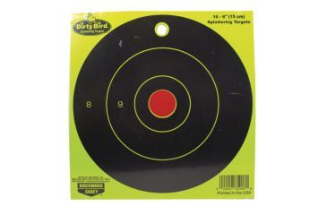 Birchwood Casey Dirty Bird Bull's Eye Yellow 6 Inch Round 16 Per Package