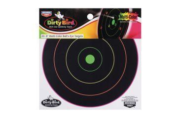 Birchwood Casey Dirty Bird Multi-Color Targets Indoor/Outdoor Use Eight Inch Pack of Twenty 35820