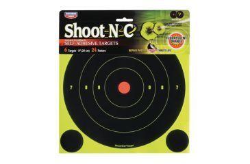 Birchwood Casey Shoot-N-C Targets 8 Inch Round Bullseye 6 Targets 24 Pasters 34805