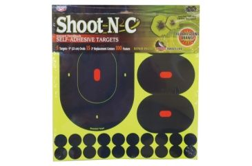 Birchwood Casey Shoot-N-C Targets 9 Inch Ovals 5 Per Pack Plus 15 4-Inch Replacement Centers 100 Pasters 34905