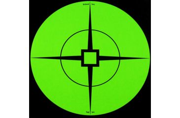 2-Birchwood Casey Target Spots, Green, 6in - Pack of 10