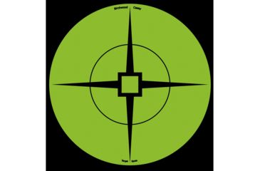 1-Birchwood Casey Target Spots, Green, 6in - Pack of 10
