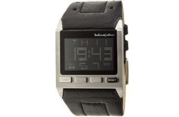 Black dice blueprint 018 digital display mens watch with leather black dice blueprint mens watch ss case black leather strap blabd 018 malvernweather Gallery