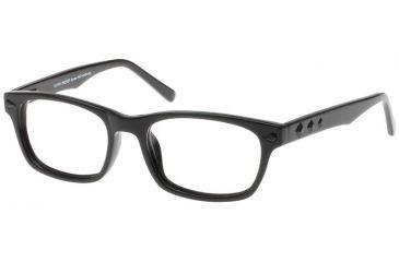 Black Forever Bk591 591 Bifocal Shiny Black Frames Black Crystals