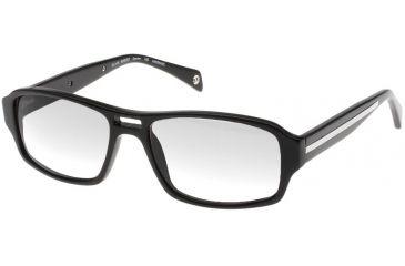 Black Forever BK621 Prescription Eyeglasses - Shiny Black Silver Trim