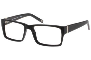 1-Black Forever 624 Matte Black Glasses Frame w/ Silver Trim