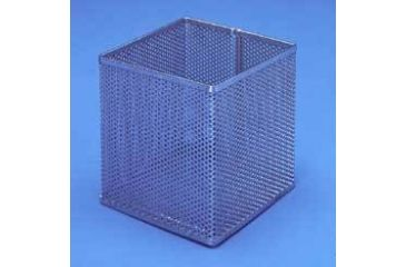 Black Machine Baskets, Perforated Aluminum PERF300/A Round