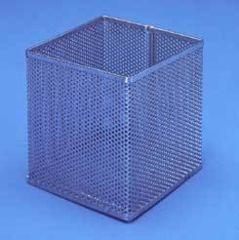 Black Machine Baskets, Perforated Aluminum PERF301/A Square