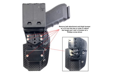 70-Black Scorpion Outdoor Gear USPSA Pro Competition Holster