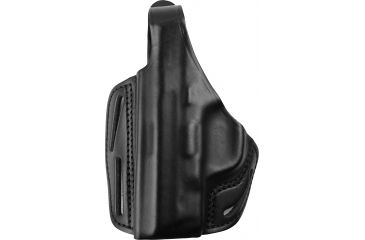 Blackhawk 3 Slot Leather Pancake Holster, Black, Left 420019BKL